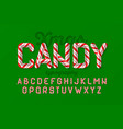 christmas candy cane font vector image