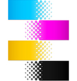 CMYK colors 3 vector image