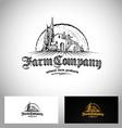 Farm Company Logo vector image