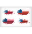 Grunge american ink splattered flag vector image