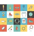 Line icons set of sport collection concept Modern vector image
