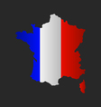 map of france with flag vector image