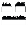 people set silhouette vector image