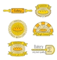 Set of badges labels design elements and vector image