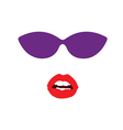 Sunglasses and lip face vector image