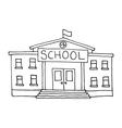 School building doodle vector image vector image