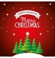 postcard happy holidays merry christmas pine tree vector image