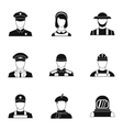 Specialty icons set simple style vector image