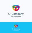 O company logo vector image