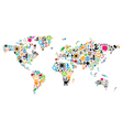 World map made of icons vector image vector image