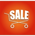 Sale poster with a basket vector image