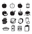 Apple product icons set vector image