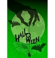 Halloween background with witches hand and spider vector image