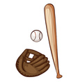A simple sketch of the baseball materials vector image