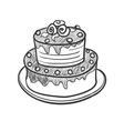 Doodle pie vector image