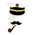 Navy captain symbol vector image