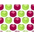 Cabbage seamless pattern Red endless background vector image