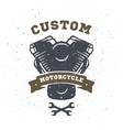 Custom engine hand drawn vector image
