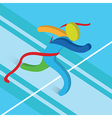 Finish Line Running icon Athletics Concept3D vector image