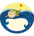 Fish Sea Label vector image