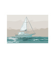 Sailboat Retro vector image