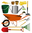 Set of garden tools vector image