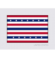 Stars and Stripes Flag Aspect Ratio 2 to 3 vector image