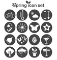 Spring icons set 16 seasonal signs vector image vector image