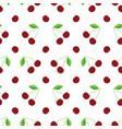 flat design cherry seamless pattern background vector image
