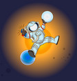 the astronaut in outer space vector image