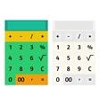 Calculator template vector image