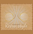 retro style poster old eyeglasses pince-nez vector image