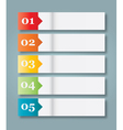 Set of 5 Numbered Paper Style Headers vector image