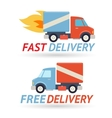 Fast Free Delivery Symbol Shipping Truck Icon vector image vector image