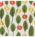 Chard and tomatoes seamless pattern vector image