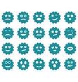 Gear emotion icons vector image