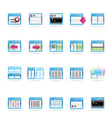 server and computer icons vector image