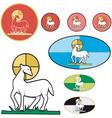 paschal lamb vector image vector image