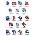 Abstract icons symbols and logos vector image