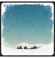 blank winter scene background vector image