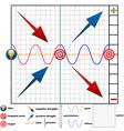 chart success vector image