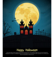 Design posters Halloween parties vector image
