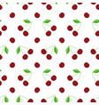 flat design cherry seamless pattern background vector image