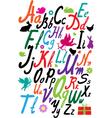 Handwriting alphabet vector image