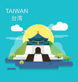 national palace museum in taiwan design vector image