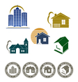 real estate emblem and stamp vector image