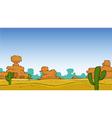 desert landscape vector image vector image