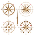 4 vintage compasses vector image