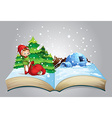Christmas book vector image vector image