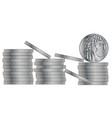 30 pieces of silver vector image